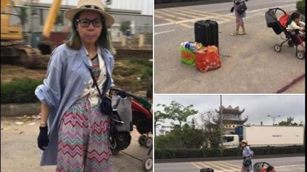Mang con về tận Thái Bình, CĐM bất bình vì hình ảnh 'hot girl' Bella đưa con trai lang thang trên đường phố
