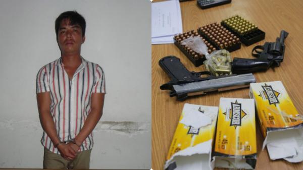 Bắt thanh niên người Thái Bình mang 2 kh.ẩu s.úng và hàng trăm viên đạn nhập cảnh TP HCM