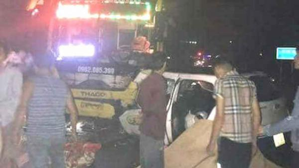 Hiện trường kinh hoàng vụ taxi đối đầu xe khách BKS Thái Bình làm 3 người ch.ết tại chỗ