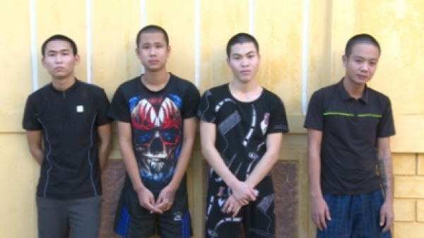 Thái Thụy (Thái Bình): 5 đối tượng mang hung khí đến trước phòng công an gây rối