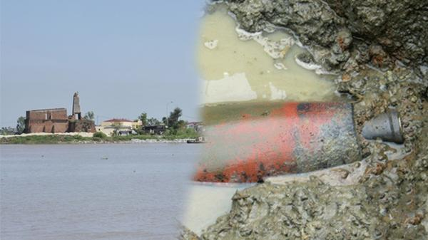 Thái Bình: Quả bom 240kg mắc vào lưới đánh cá của nông dân