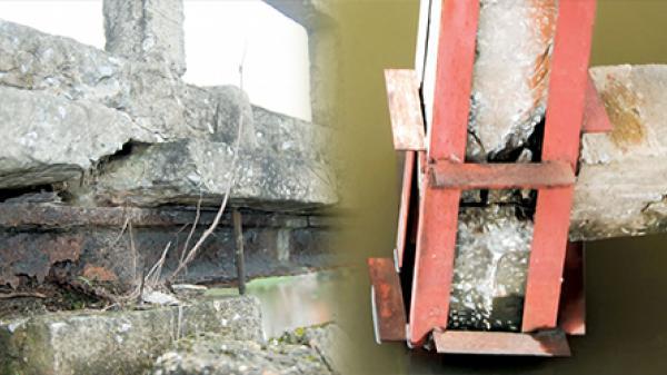 """Kiến Xương - Thái Bình: Cầu Đồng Đen đang thành """"điểm đen"""""""