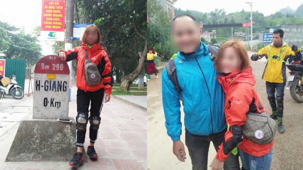 Cô gái 9x quê Thái Bình đi phượt cùng bạn nam, lên báo 'sống ảo' khoe được bố 'hộ tống' đi Hà Giang