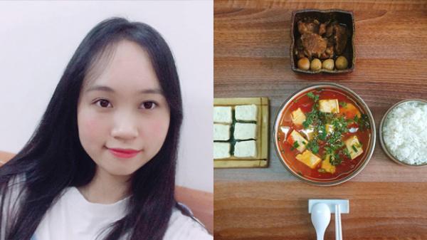 Ở một mình, cô sinh viên Thái Bình khoe mâm cơm khiến ai cũng phải xuýt xoa