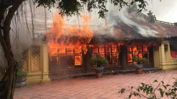 Cháy di tích lịch sử cấp quốc Gia ở Thái Bình