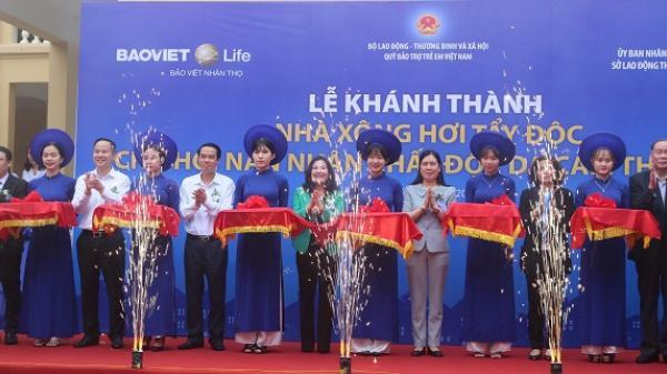 Thái Bình: Khánh thành nhà xông hơi tẩy độc cho nạn nhân chất độc da cam tỉnh