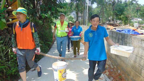 Hoạt động ý nghĩa của đoàn tình nguyện viên Hàn Quốc