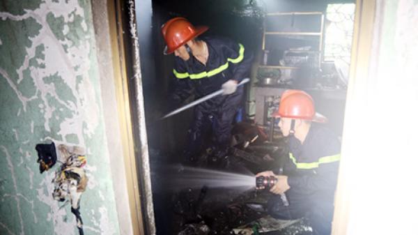 Thái Nguyên: Chữa cháy một chiến sỹ bị thương khi làm nhiệm vụ