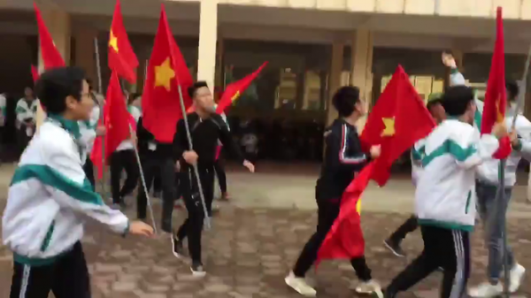 Màn ăn mừng U23 Việt Nam 'siêu oách' của học sinh THPT ở Thái Nguyên