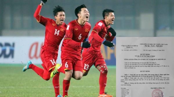 U23 Việt Nam ghi 1 bàn thắng, nhân viên sẽ được thưởng 1 triệu đồng