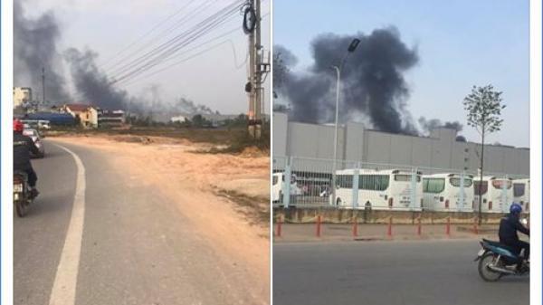 HOT: Cháy ở nhà máy Samsung Thái Nguyên