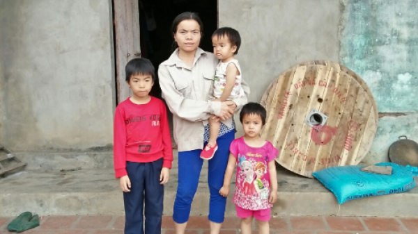 Mẹ đơn thân trú tại Thái Nguyên đi phụ hồ thuê chắt bóp từng đồng nuôi 3 con nhỏ: 'Xin hãy làm phúc cứu giúp mẹ con em!'