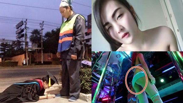 Từng quỳ dưới chân người mẹ lao công trong ngày tốt nghiệp, cô gái bị dân mạng ném đá khi biết công việc hiện tại
