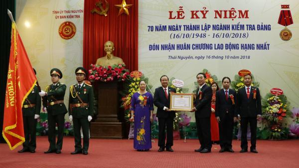 Ngành Kiểm tra Đảng tỉnh Thái Nguyên đón nhận Huân chương Lao động hạng Nhất lần thứ hai
