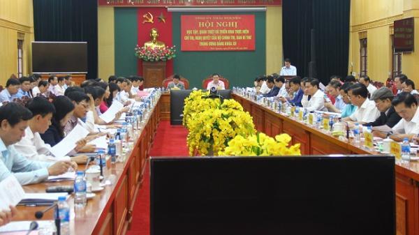 Thái Nguyên: Học tập, quán triệt và triển khai thực hiện các chỉ thị, nghị quyết Bộ Chính trị, Ban Bí thư Trung ương Đảng