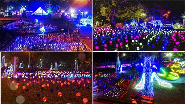 Bất ngờ hé lộ những hình ảnh đầu tiên  siêu lung linh trong không gian 5000m2 đèn tại lễ hội ánh sáng quốc tế ở Nam Định trước giờ mở cửa