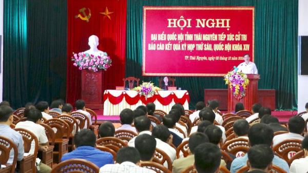 Đại biểu Quốc hội tỉnh Thái Nguyên tiếp xúc cử tri sau Kỳ họp thứ 6, Quốc hội khóa XIV