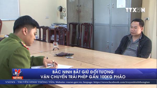 Bắc Ninh: Bắt quả ta.ng đối tượng vận chuyển gần 100 kg pháo nổ
