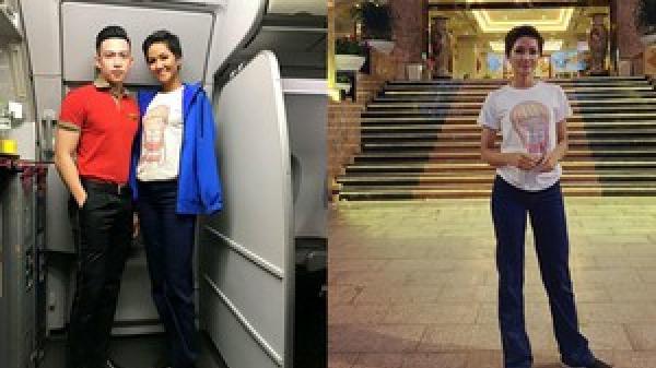 H'Hen Niê mượn áo 40k của em gái mua ngoài chợ để mặc