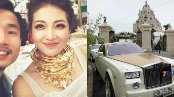 """Siêu đám cưới: Cô dâu vàng đeo trĩu cổ, đám cưới xuất hiện siêu xe  Rolls-Royce Phantom BKS Thái Nguyên với ý nghĩa """"bạn bè nể sợ"""""""