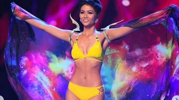 Phản ứng bất ngờ của H'Hen Niê  khi được công bố Hoa hậu đẹp nhất thế giới 2018