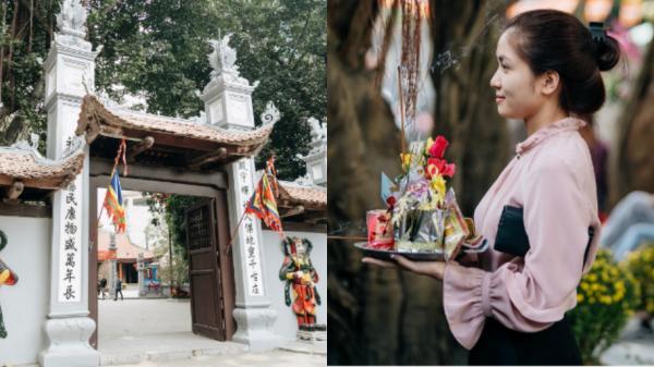 """Ngày Valentine, nhiều bạn trẻ nô nức tới chùa Hà cầu mong """"khi đi lẻ bóng, khi về có đôi"""""""