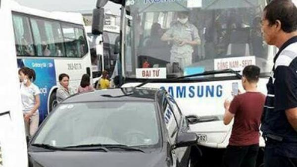 Thái Nguyên: Ô tô chở công nhân Samsung gây tai nạn liên hoàn