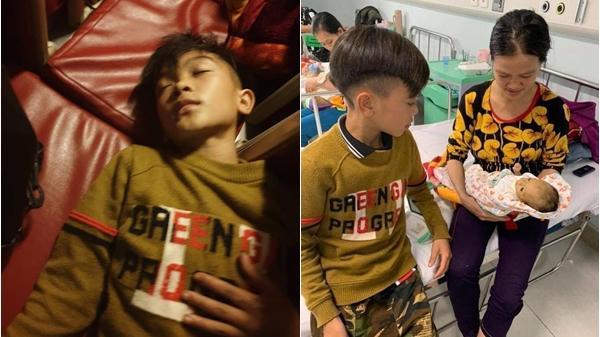 Anh trai 13 tuổi một mình đạp xe không có phanh từ Sơn La xuống Hà Nội thăm em ốm, dùng dép thay phanh
