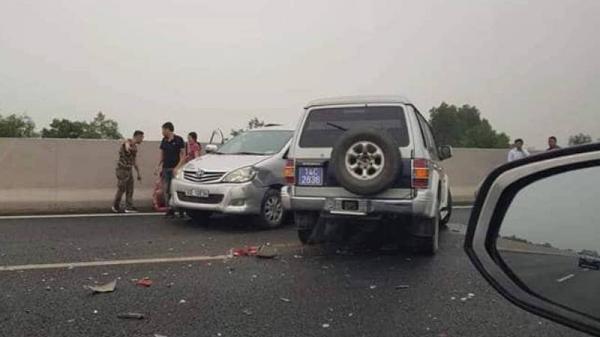 Xe biển xanh gây tai nạn kinh hoàng trên cao tốc Hà Nội-Hải Phòng, 1 người bị th.ương