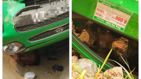 Taxi lật ngửa nằm đè lên tài xế dẫn đến tử vong, hình ảnh hiện trường khiến nhiều người hoảng sợ