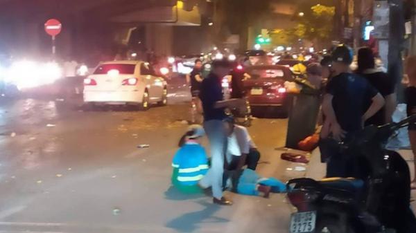 Ô tô đâm liên hoàn trên đường phố, ít nhất 1 công nhân môi trường tử vong