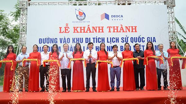 Thái Nguyên: Khánh thành tuyến đường vào khu Di tích thành lập Hội Nhà báo Việt Nam