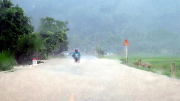 CẢNH BÁO: Thái Nguyên có mưa rào và dông, nguy cơ cao sạt lở đất