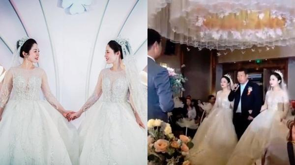 """Tổ chức đám cưới cùng ngày, chị em cô dâu """"chơi chiêu"""" đến nỗi chú rể cũng nhận nhầm vợ"""