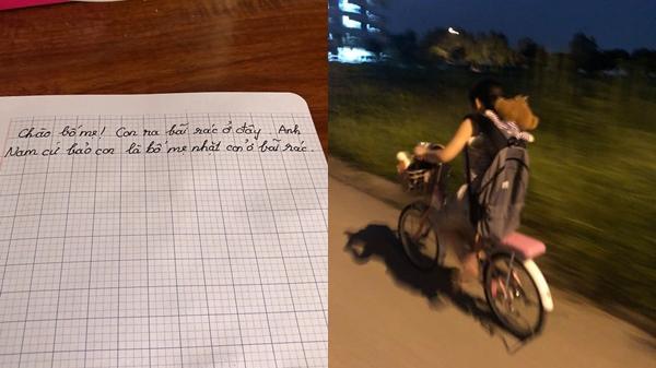 """Anh trai đùa """"Bố mẹ nhặt em ở bãi rác"""", bé gái tưởng thật để lại tâm thư rồi lấy xe đạp bỏ nhà ra đi"""