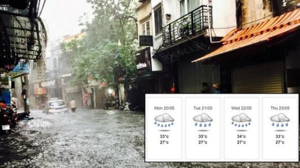 Miền Bắc có mưa rào, mưa dông từ chiều mai, chính thức chấm dứt nắng nóng