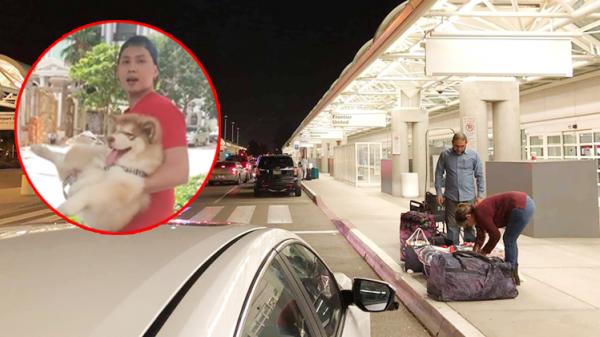 Bị 'người lạ' dọa 'chém cả lò', thanh niên dắt chó đi dạo đăng ảnh ra sân bay để trốn chạy?