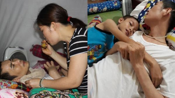 Thái Nguyên: Chồng sống thực vật, người vợ trẻ ngày đêm gồng mình chăm sóc và lo cho 2 con thơ dại