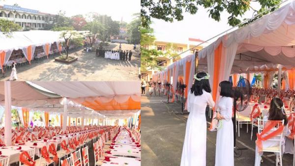 Thái Nguyên: Khối 12 bắc rạp tổ chức liên hoan hoành tráng, dân mạng trầm trồ: 'Lễ tốt nghiệp hay đám cưới?