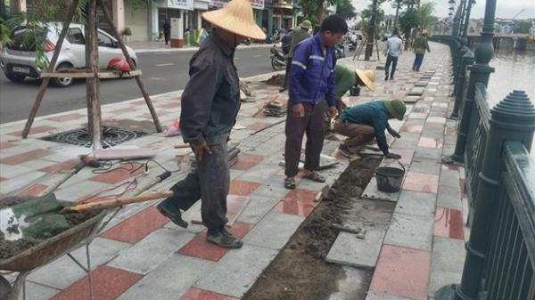 Hải Phòng: Lại tiếp tục bóc vỉa hè lên sửa lại ở dự án sông Tam Bạc