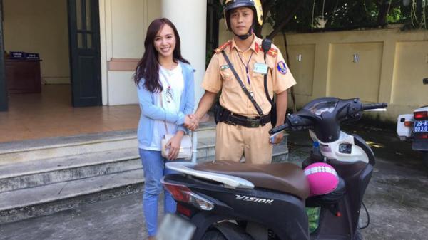 Cô gái xinh đẹp tìm lại được xe máy sau 2 năm bị mất cắp