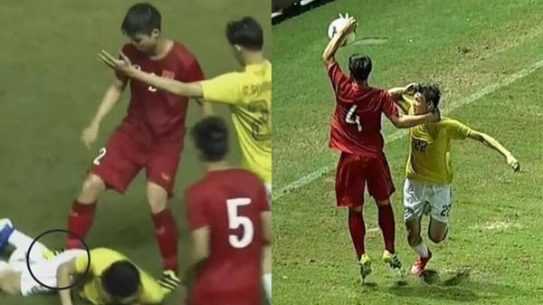 """Tuyển thủ Thái Lan chơi xấu, tiểu x.ảo nhưng các cầu thủ Việt Nam cũng """"không phải dạng vừa đâu"""""""