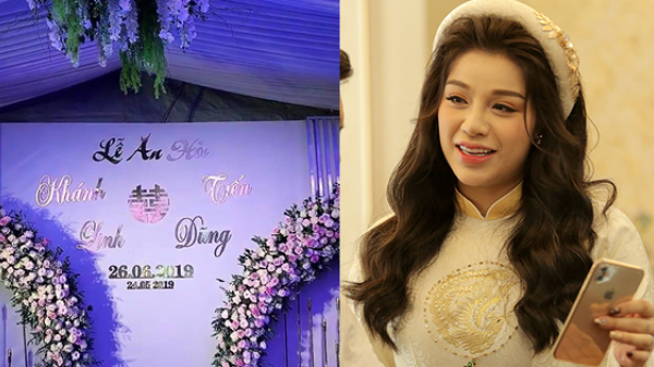 Đám hỏi hoành tráng của trung vệ Bùi Tiến Dũng: Cô dâu Khánh Linh xuất hiện tươi tắn bên mẹ chồng