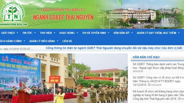 Tra cứu điểm thi THPT quốc gia 2019 tỉnh Thái Nguyên