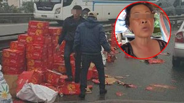 Người phụ nữ vác bao tải 'hôi của' nước ngọt: 'Tui chỉ lụm mấy lon móp, có nhảy lên xe ăn cướp đâu mà nói tui hút xương máu'
