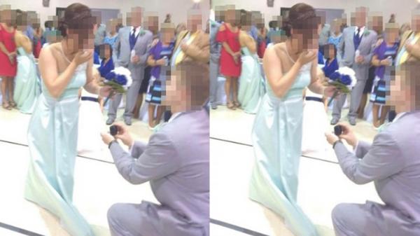 Phù rể cầu hôn phù dâu ngay trong lễ cưới bạn thân, cặp đôi bị chỉ trích 'lố bịch', 'kém sang'