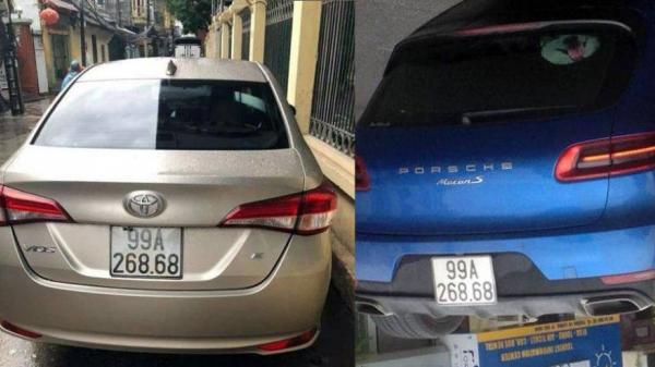 """Bắc Ninh: Xác minh hình ảnh """"xe sang"""" Porsche Macan S trùng biển cực đẹp """"268.68"""" với xe Vios"""