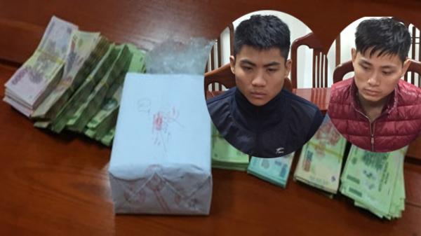 Vận chuyển thuê số lượng lớn ma túy từ một người ở Thái Nguyên, 2 thanh niên bị tóm gọn