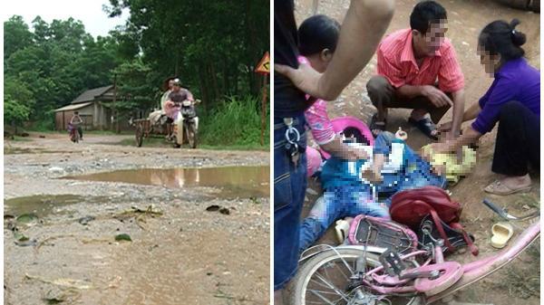 Xe tải chở đất làm hai học sinh tiểu học tử vong trên đường về nhà