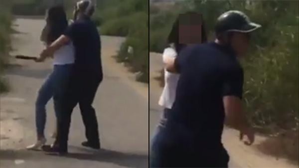 Bắt gặp chồng sắp cưới đi với người khác, cô gái rút dao dọa chém ngay giữa đường